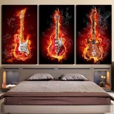 Home & Kitchen, burningflameguitar, Wall Art, Home Decor