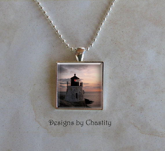 lighthouse, art, Jewelry, Glass