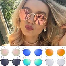 Women, retro glasses, Fashion, Round Sunglasses