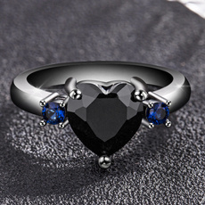 Heart, Jewelry, 925 silver rings, gold