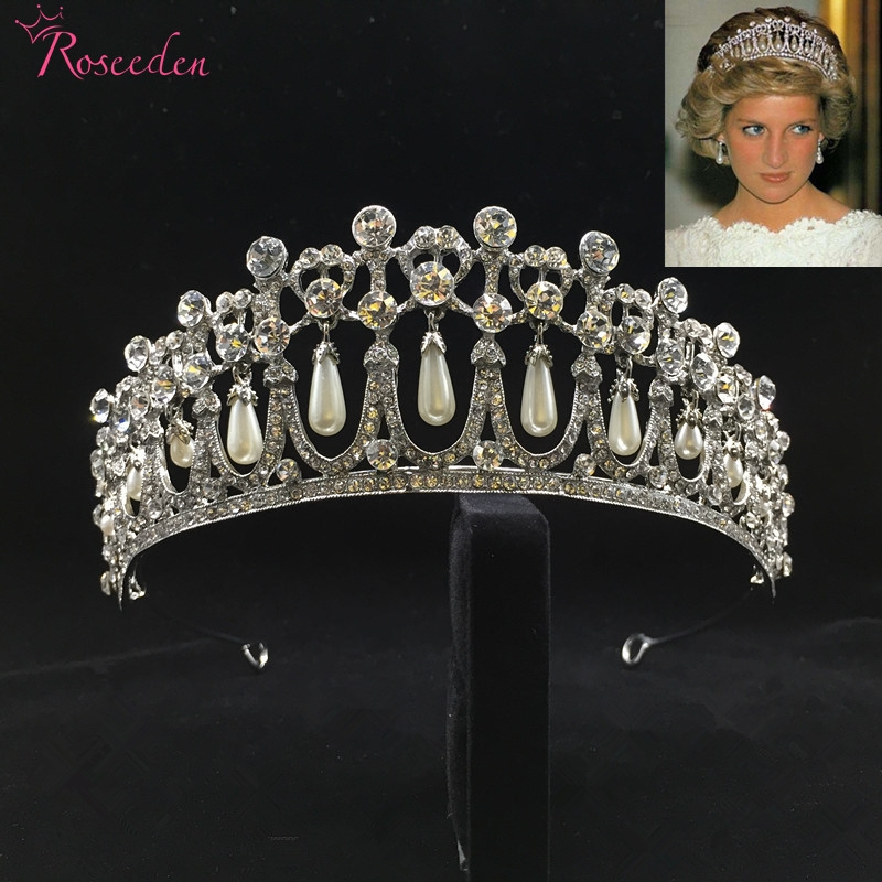 Royee 12 Pcs Tiara Crown Brooch Pin Silver Gold Rhinestone Crystal Embellishments Diamante Vintage Elegant Jewelry Decorative for Wedding Party Pageant Dress Clothes Hat