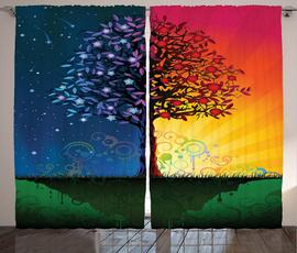Summer, Winter, Nature, Shower Curtains
