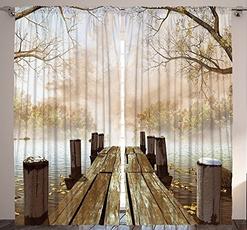 Home & Kitchen, Nature, Wooden, Shower Curtains