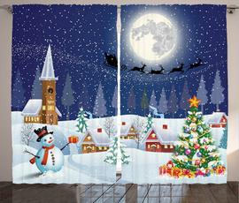 Christmas, Shower Curtains, customshowercurtain, Tree