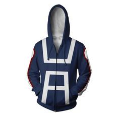 3D hoodies, myheroacademia, printed, zipperjacket