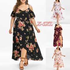 women sexy dress, coldshouderdres, maxi summer dresses, Plus Size