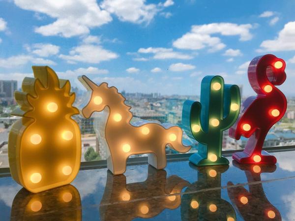 party, flamingo, lednightlight, Christmas