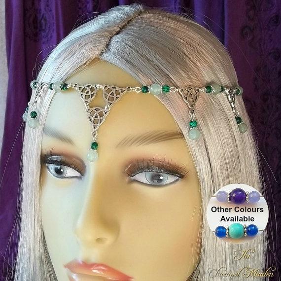Blues, Celtic, headdress, Medieval