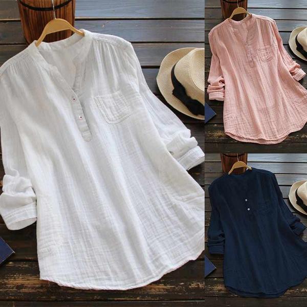 Plus Size, Shirt, Sleeve, loose top