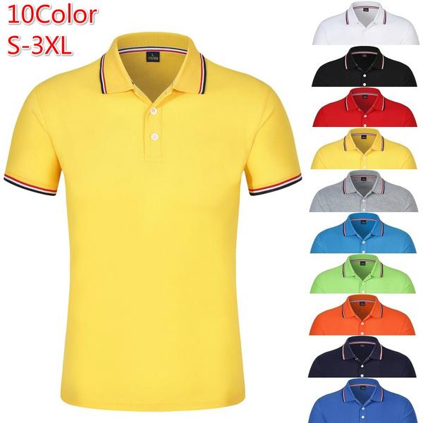 Summer, slim, Polo Shirts, Sleeve