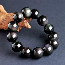Charm Bracelet, black bracelet, naturalbeadsbracelet, Gifts