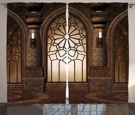 Antique, gate, Goth, Shower Curtains