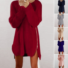 pulloverssweater, Polyester, Loose, Dress