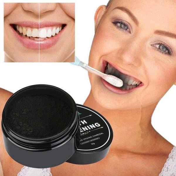 Charcoal, organic, teethwhitening, Beauty
