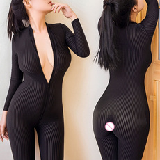 sexy uniform, Open Crotch, nightwear, Sleeve