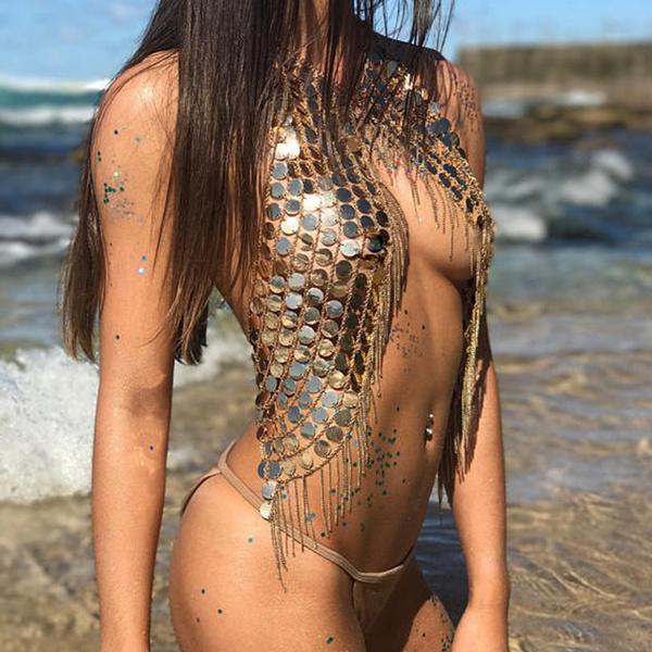 heartchainprinttankdres, Fashion, Chain, Summer