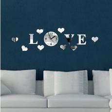 Heart, creativeclock, stickersclock, furniturediy