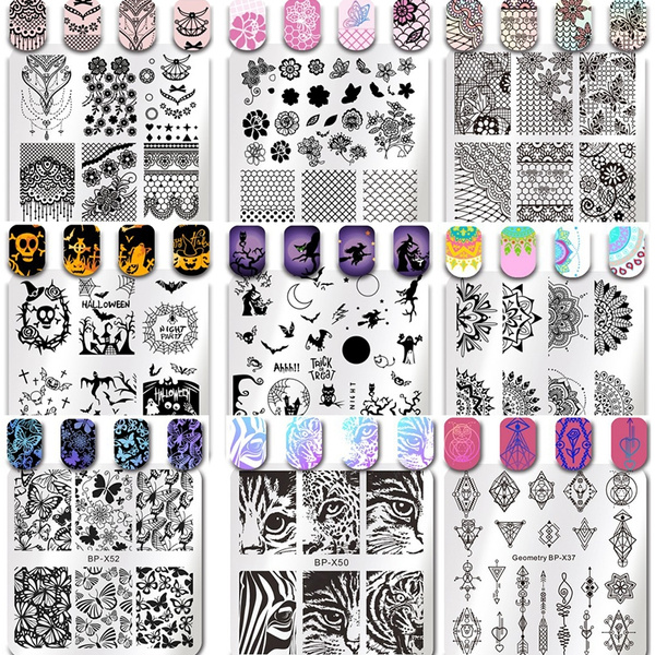 butterfly, butterflytemplate, nailstamper, art
