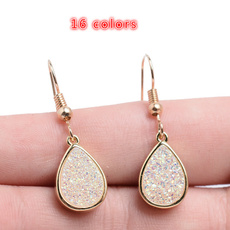 Fashion, Dangle Earring, Gemstone Earrings, gold
