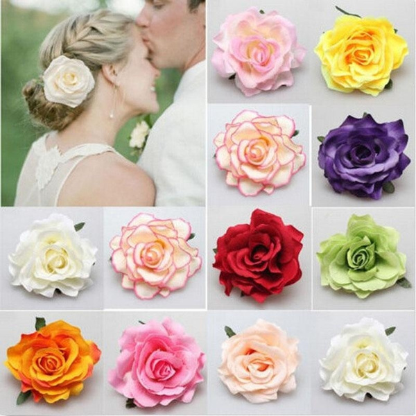 Bridesmaid, Flowers, Rose, Hair Pins
