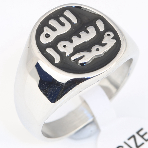 Steel, 8MM, islamicring, Stainless Steel