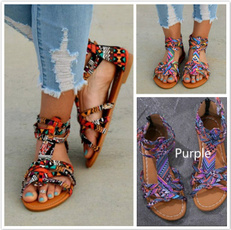 Summer, Sandals, Lace, Colorful