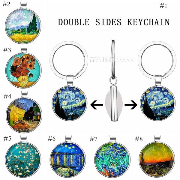 vangogh, Key Chain, Jewelry, Chain