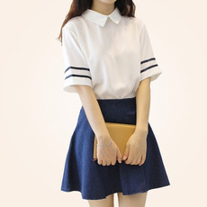 Blues, School Uniforms, School, plaid