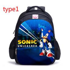 Boy, computergamet, sonic, Backpacks