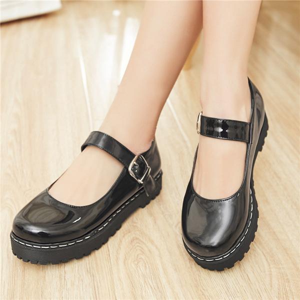 New Platform Mary Jane Shoes Women's
