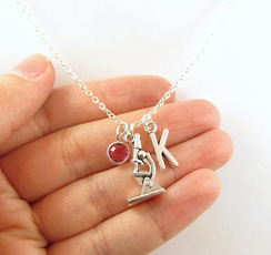 Jewelry, Gifts, Science, microscopenecklace