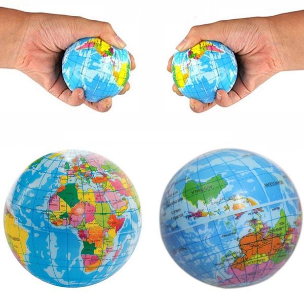stressball, Toy, worldmap, rubberball