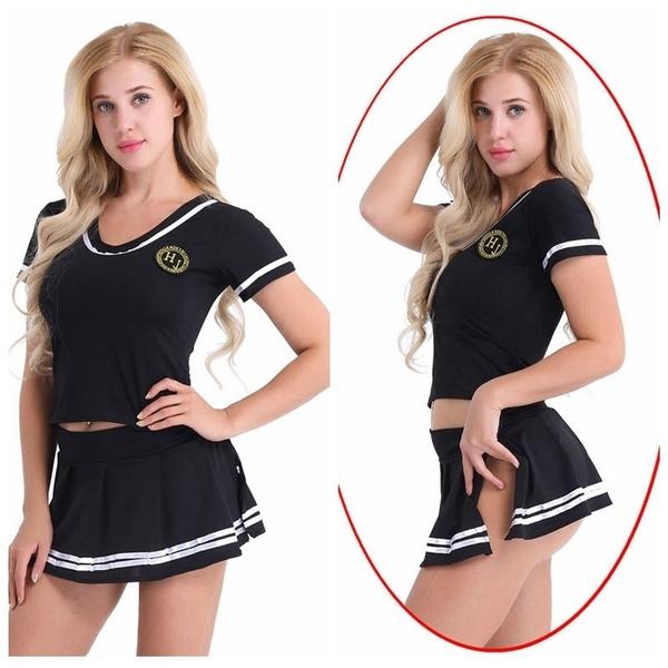 Women, Cosplay, socceruniform, cheerleadingsuit