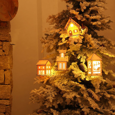 christmastreependant, led, woodenhouse, Ornament
