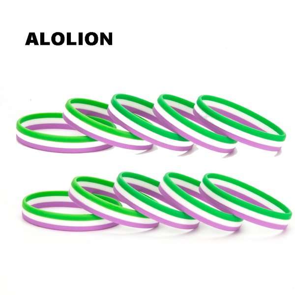 rainbow, Bracelet, lgbt, Silicone