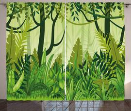 leaves, Plants, Shower Curtains, rainforest