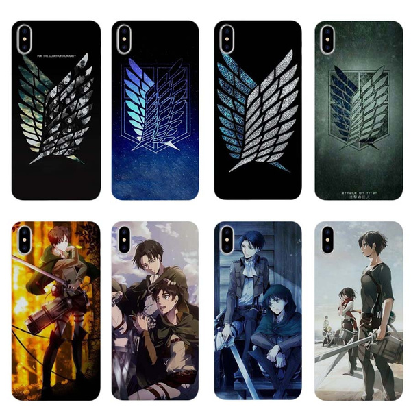 Anime Attack on Titan Shingeki No Kyojin Wing Logo Desgin Printed Phone Case Coque Phone Cover Shell for IPhone X 8 7 6 6S Plus 5 5S SE Soft TPU Cover ...
