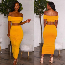 Fashion, off the shoulder top, Tube top, backless dress