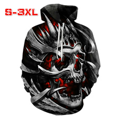 3D hoodies, Men's Hoodies & Sweatshirts, Fashion, skull