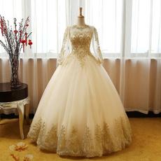 gowns, Princess, Sleeve, Long Sleeve