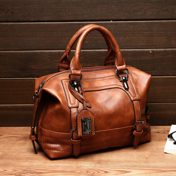 Women Genuine Leather Bags Women Real Leather Handbags Large Shoulder Bags  Designer Vintage Bag Bolsas Femininas | Wish