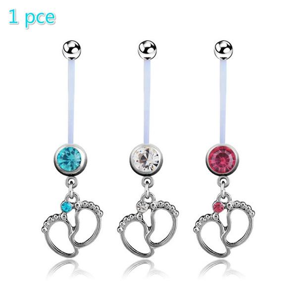 bellybuttonnavelbar, Jewelry, heart pendant, punk