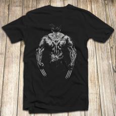 menleisuretshirt, shortsleevestshirt, Cotton T Shirt, Marvel