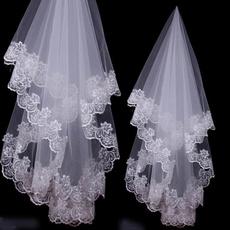 Ivory, weddingveil, Lace, bridalveil