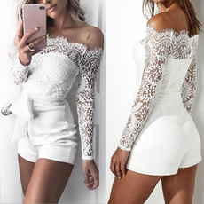 longlacesleeve, strapless, womenjumpsuitshort, womensexyjumpsuit