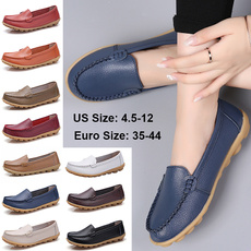 casual shoes for flat feet, Vintage, Flats, leather