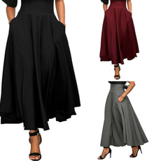 Skirts, long skirt, high waist skirt, Waist