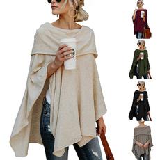 Fashion, elegantblouse, Irregular, Long Sleeve