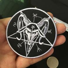 pentaclespentagram, trimembellishment, irononapplique, satanicpatch