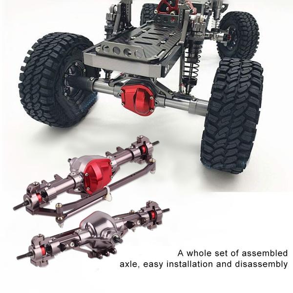 CNC Aluminum Rear Bumper W// Mount 1//10 D90 for Axial SCX10 RC Car Crawler #1515